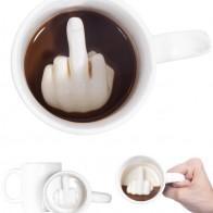 538.36 руб. 25% СКИДКА|Креативный дизайн белый средний палец кружка, новый стиль смешивания чашка для кофе и молока смешная керамическая чашка 300 мл емкость воды чашки-in Кружки from Дом и сад on Aliexpress.com | Alibaba Group