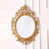 Европейское классическое овальное декоративное зеркало, зеркало для ванной комнаты, подвесное настенное зеркало для крыльца, Настенное по... - Зеркала