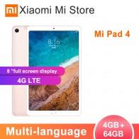 13093.23 руб. 19% СКИДКА|Новый оригинальный Xiaomi mi Pad 4 64 Гб Планшеты 4 Snapdragon 660 AIE cpu 8