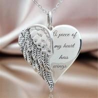 111.1 руб. 19% СКИДКА|Часть моего сердца имеет крылья элегантный шепот в моем сердце ангел ожерелье-in Ожерелья-цепочки from Украшения и аксессуары on Aliexpress.com | Alibaba Group