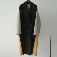 15406.01 руб. 24% СКИДКА|2018 зимнее пальто новое женское Шерстяное двустороннее кашемировое пальто, двубортное длинное пальто ручной работы-in Шерсть и сочетания from Женская одежда on Aliexpress.com | Alibaba Group