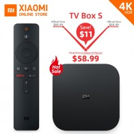 US $58.99 |Global Version Xiaomi Mi Box S Smart TV 4K Ultra HD 2G 8G Android TV Box WIFI Google Cast Netflix Media Player IPTV subscription-in Set-top Boxes from Consumer Electronics on Aliexpress.com | Alibaba Group