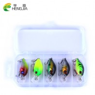 US $4.33 35% OFF|HENGJIA 5pc 4.2g Fishing Lure Kit Minnow floating Lure Isca Crankbait Bait Pesca Jig Fishing Hook Set With Fishing Tackle Box-in Fishing Lures from Sports & Entertainment on Aliexpress.com | Alibaba Group