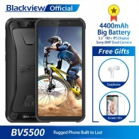 5884.5 руб. 10% СКИДКА|Blackview BV5500 водонепроницаемый мобильный телефон с IP68 MTK6580P 2 ГБ + 16 5,5