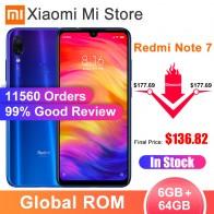 На складе, Смартфон Xiaomi Redmi Note 7 с глобальной прошивкой, 6 ГБ ОЗУ, 64 Гб ПЗУ, Snapdragon 660, экран 6,3 дюйма, задняя камера 48 МП, аккумулятор 4000 мАч-in Мобильные телефоны from Мобильные телефоны и телекоммуникации on AliExpress