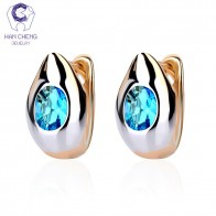 US $5.98 |HanCheng New Fashion Small Golden Silver Plated Geometric AAA Zircon Gem Stone Stud Earrings For Women Jewelry brincos bijoux-in Stud Earrings from Jewelry & Accessories on Aliexpress.com | Alibaba Group