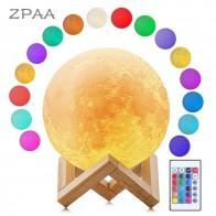 248.49 руб. 50% СКИДКА|Luna Moon лампа в форме планеты Земля ночник 3D печатная лампа лунного света светодиодный Диммируемый сенсорный перезаряжаемый прикроватный Настольный светильник Прямая поставка-in Ночники from Лампы и освещение on Aliexpress.com | Alibaba Group
