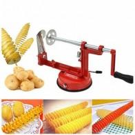 Ручная нержавеющая сталь, Картофельная машина для нарезки картофеля, спиральный резак для кухонного инструмента