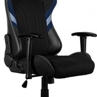 Кресло игровое AEROCOOL AERO 1 Alpha Black Blue, черный/синий