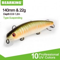 BEARKING 1PCS Fishing lure 14cm 22g Minnow plastic artificial fishing wobbler tools jerk fish esca tackle - РЫБАЛКА