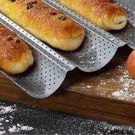Форма для выпечки хлеба из нержавеющей стали волновой лоток практичный торт багет кухонные сковороды аксессуары инструменты для выпечки Bpa...