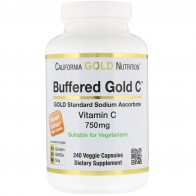 California Gold Nutrition, Buffered Vitamin C Capsules, 750 mg, 240 Veggie Capsules