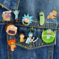 US $0.35 30% OFF|Classic Cartoon Enamel pin Rick and Morty Philip J. Fry Mermaid Man Barnacle Boy lapel pin badges Buttons brooches Anime Jewelry-in Brooches from Jewelry & Accessories on AliExpress - 11.11_Double 11_Singles