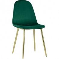 Стул Stool Group Валенсия велюр зеленый/золотые ножки DC-93025I HLR-64, купить в интернет-магазине по цене 5 490 руб - Мебель для дома и дачи