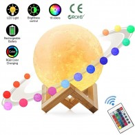 US $4.2 |3D Print Moon Lamp Rechargeable Night Light RGB Color Change Touch Switch Bedroom 3D lunar Moon Lamp Home Decor Creative Gift-in LED Night Lights from Lights & Lighting on Aliexpress.com | Alibaba Group