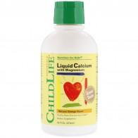 ChildLife, Жидкий кальций с магнием, вкус натурального апельсина, 474мл