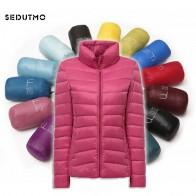 1437.95 руб. 51% СКИДКА|Sedutmo 2018 зима ультра легкий Пуховики на гусином пуху женские короткие теплое пальто тонкий весенний пуховик ED117 купить на AliExpress