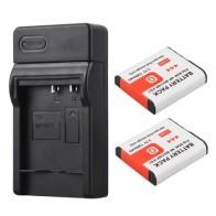 Аккумулятор NP BG1 NPBG1 2x1300 мАч, NP-BG1 + USB зарядное устройство для Sony DSC-H3, DSC-H7, DSC-H9, DSC-H10, DSC-H20, DSC-H50, DSC-H55, DSC-H70 - Аккумуляторы