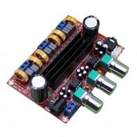 607.23 руб. 25% СКИДКА|Плата усилителя усилитель звука аудио amplificador для динамики TPA3116D2 50Wx2 + 100 Вт 2,1 канальный цифровой сабвуфер Мощность 12 ~ 24 В купить на AliExpress