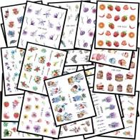129.62 руб. 25% СКИДКА|WUF 48 популярная черная наклейка для дизайна ногтей ожерелье Единорог ювелирные изделия кошка бабочка кулон маникюр Советы ногтей переводные наклейки для воды купить на AliExpress