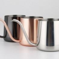 Fei 1 шт., Новое поступление 2016, 3 цвета, капельный чайник для кофе, чайник из нержавеющей стали с гусиной шеей, подвесной чайник для бариста - Чай вдвоем