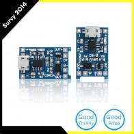 46.15 руб. 8% СКИДКА|2 шт. Micro USB 5 В 1A 18650 TP4056 литиевых Батарея Зарядное устройство модуль зарядки доска с защитой двойной функции купить на AliExpress