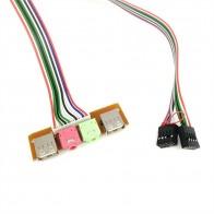 71.31 руб. 8% СКИДКА|2 USB PC чехол для компьютера 6,8 см Передняя панель USB аудио порт микрофон наушники кабель on Aliexpress.com | Alibaba Group
