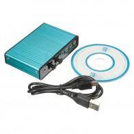 660.96 руб. 14% СКИДКА|Внешняя звуковая карта USB 6 канальный 5,1 аудио S/PDIF оптический Звуковая карта для PC Голубой купить на AliExpress
