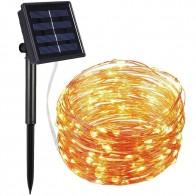 423.22 руб. 15% СКИДКА|72ft 22 M 200 светодиодный солнечный свет прокладки домашний сад Медный провод свет Строка Фея Открытый солнечной энергии для рождественской вечеринки декор купить на AliExpress