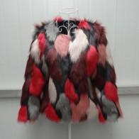 1708.54 руб. 24% СКИДКА|Xs/6Xl женские зима осень имитация смешанные Цвет поддельные Меховая куртка большой Размеры элегантный женский ручной работы меховая Верхняя одежда Пальто J2369 купить на AliExpress
