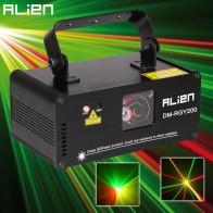 6065.39 руб. 10% СКИДКА|Чужой удаленного DMX512 200 МВт RGY Лазерная Освещение сцены сканер эффект для танцев DJ Disco вечерние показать Light Xmas проектор огни купить на AliExpress