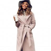 2549.58 руб. 40% СКИДКА|MVGIRLRU элегантные длинные женские пальто с лацканами 2 кармана поясом однотонные куртки пальто для будущих мам женская верхняя одежда-in Шерсть и сочетания from Женская одежда on Aliexpress.com | Alibaba Group