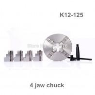 3398.92 руб. 6% СКИДКА|CNC 4 челюсти самоцентрирующейся токарный патрон 5