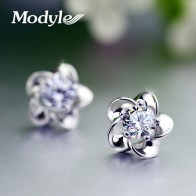 US $0.99 50% OFF|Wedding Jewelry Women Earrings Bijoux Silver Color Zircon Enamel Flower Earrings-in Stud Earrings from Jewelry & Accessories on Aliexpress.com | Alibaba Group