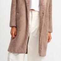 Женское пальто DILVIN ME-101A06760_Vizon - Пальто пастельных тонов