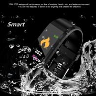 652.83 руб. 30% СКИДКА|Новинка 115 PLU водонепроницаемые спортивные Смарт часы для мужчин и женщин пульсометр фитнес трекер умные браслеты для Android IOS смарт браслеты-in Цифровые часы from Ручные часы on Aliexpress.com | Alibaba Group