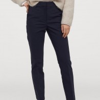 Cigarette trousers - Navy blue - Ladies | H&M GB