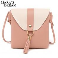 € 2.83 10% de DESCUENTO|Mara es el sueño de 2019 nuevas mujeres de la moda de la PU bolsos de cuero de la borla de Color sólido Patchwork bolso de hombro de alta calidad bolsa de mensajero-in Bolsos de hombro from Maletas y bolsas on Aliexpress.com | Alibaba Group