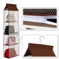 1330.98 руб. 50% СКИДКА|BalleenShiny 5 слоев висит сумка для хранения для женщин сумки Организатор пыле Съемная Tote Дамы сумки вешалка для шкафа вешалки купить на AliExpress