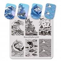 62.13 руб. 37% СКИДКА|BeautyBigBang 6*6 см штамповка для ногтей Дельфин рыбы Чайка шаблон ногтей шаблоны для открыток шаблонные штампы BBB028-in Шаблоны для дизайна ногтей from Красота и здоровье on Aliexpress.com | Alibaba Group