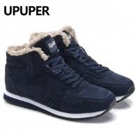 1329.62 руб. 49% СКИДКА|Большие размеры зимние мужские кроссовки из натуральной кожи зимние теплые плюшевые мужские повседневные туфли уличные унисекс Спортивная обувь для мужчин синий черный купить на AliExpress
