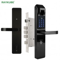 US $131.47 24% OFF|RAYKUBE Biometric Fingerprint Door Lock Intelligent Electronic Lock Fingerprint Verification With Password & RFID Unlock R FZ3-in Electric Lock from Security & Protection on Aliexpress.com | Alibaba Group