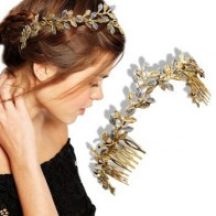 Римская невеста 3D Бабочка венок гирлянда заколка для волос гребень корона платье Алиса лента невесты свадебные украшения