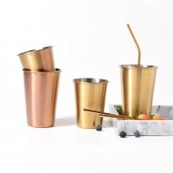 296.66руб. 5% СКИДКА|Позолоченное стекло, 304, кружки из нержавеющей стали, серебро, розовое золото, для завтрака, молочный фруктовый сок, для чая, кофе, кружки, металлическая чашка, 1 шт.-in Кружки from Дом и животные on AliExpress