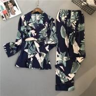 1064.38 руб. 46% СКИДКА|Lisacmvpnel весенние женские пижамные комплекты с принтом Пижамный костюм из вискозы брюки с длинными рукавами два бумажный костюм-in Комплекты пижам from Нижнее белье и пижамы on Aliexpress.com | Alibaba Group