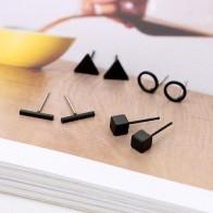 94.82 руб. 32% СКИДКА|Новое поступление, круглые треугольной формы, серебряные, золотые, черные, цветные серьги гвоздики из сплава для женщин, ювелирные изделия для ушей, 4 пары-in Серьги-гвоздики from Украшения и аксессуары on Aliexpress.com | Alibaba Group