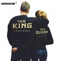 US $7.62 30% OFF|XUANSHOW KING QUEEN Letters Print Men Women Lovers Couple Fleece Autumn Winter Hoodies Sweatshirts-in Hoodies & Sweatshirts from Women