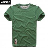 838.94 руб. 44% СКИДКА|VOMINT новый принт футболка мужская футболка с короткими рукавами из хлопка Multi Однотонная одежда фасонной пряжи футболка мужской Цвет серый зеленый lblue купить на AliExpress