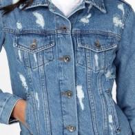 Женская джинсовая куртка Vintage Denim ME-491-R2-S - Яркие джинсовые куртки