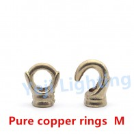 Pure copper closed opening rings brass hook M10 for chandelier ceiling plate ceiling rose retro edison lamp lighting accessories